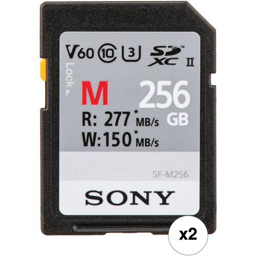 Sony 256GB SF-M/T2 UHS-II SDXC Memory Card Kit (2-Pack)