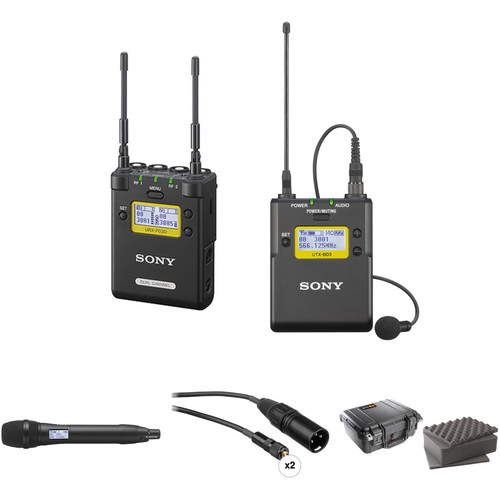 Sony 2-Channel Receiver with Bodypack and Handheld Microphone Kit (Ch. 30 to 36 and 38 to 41)