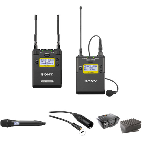 Sony 2-Channel Receiver with Bodypack and Handheld Microphone Kit (Ch. 14 to 25)