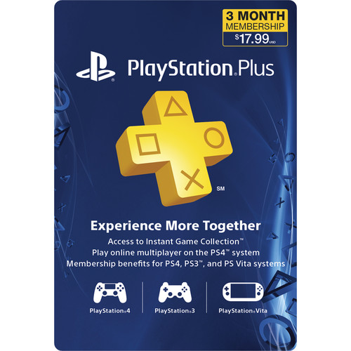 Sony PlayStation Plus Subscription (3-Month)