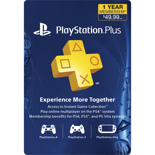 Sony PlayStation Plus Subscription (1-Year)
