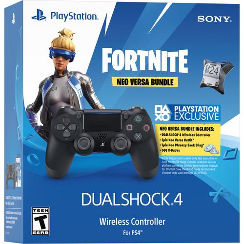 Sony Fortnite Neo Versa Dualshock 4 Wireless Controller Bundle (Jet Black)