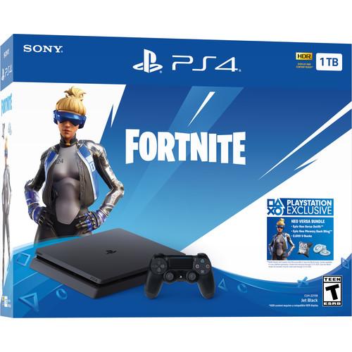 Sony PlayStation 4 Fortnite Neo Versa Gaming Console Bundle (Jet Black)