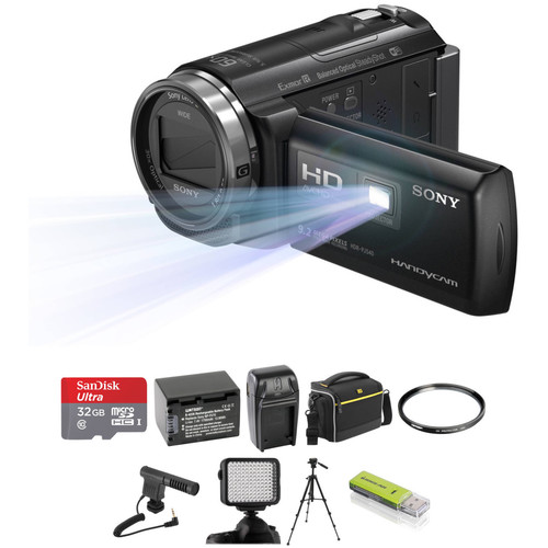 Sony HDR-PJ540 Full HD 32GB Camcorder with Built-In Projector Deluxe Kit