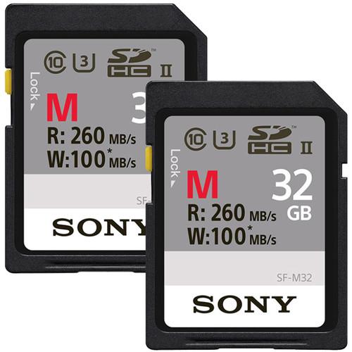 Sony 32GB M Series UHS-II SDHC Memory Card Kit (2-Pack)