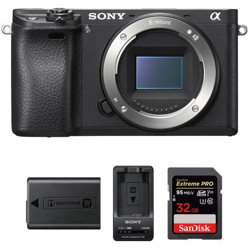 Sony Alpha a6300 Mirrorless Digital Camera Body Premium Kit (Black)