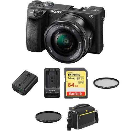 Sony a6500 Mirrorless Digital Camera with 16-50mm Lens Premium Kit