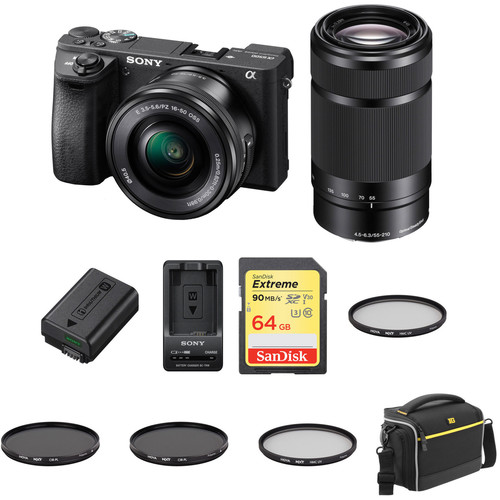 Sony a6500 Mirrorless Digital Camera with 16-50mm and 55-210mm