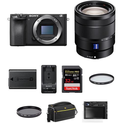 Sony a6500 Mirrorless Digital Camera with 16-70mm Lens Premium Kit
