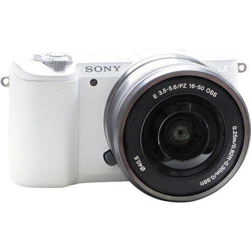 Sony Alpha a5100 Mirrorless Digital Camera with 16-50mm and 55-210mm Lenses and Accessories Kit (White)