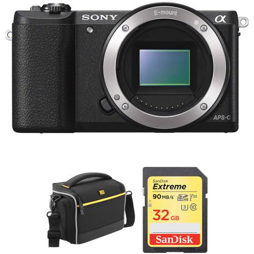 Sony Alpha a5100 Mirrorless Digital Camera Body with Accessory Kit (Black)