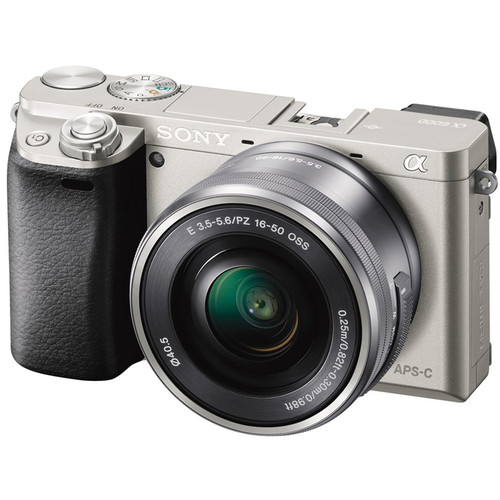Sony Alpha a6000 Mirrorless Digital Camera with 16-50mm Lens Deluxe Kit (Silver)