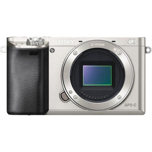 Sony Alpha a6000 Mirrorless Digital Camera Body with Accessory Kit (Silver)