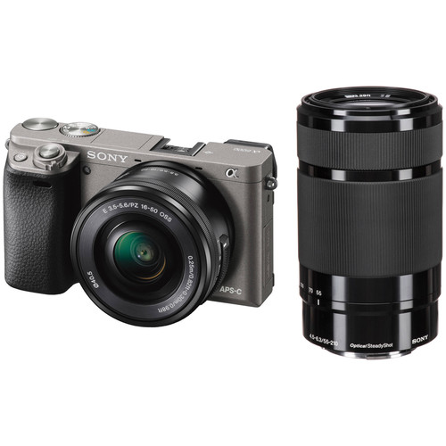 Sony Alpha a6000 Mirrorless Digital Camera with 16-50mm and 55-210mm Lenses Kit (Graphite)