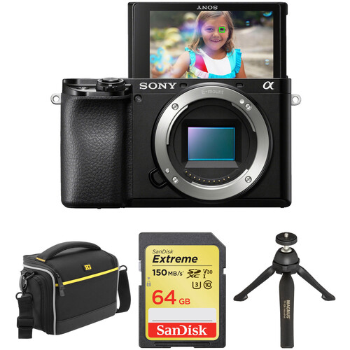 Sony Alpha a6100 Mirrorless Digital Camera Body with Accessories Kit
