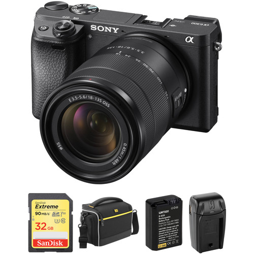 Sony Alpha a6300 Digital camera with E 18-135mm Lens and Accessories Kit