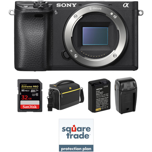 Sony Alpha a6300 Mirrorless Digital Camera Body Deluxe Kit