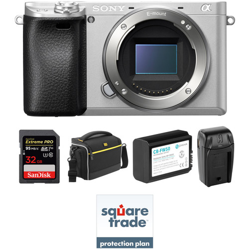 Sony Alpha a6300 Mirrorless Digital Camera Body Deluxe Kit (Silver)