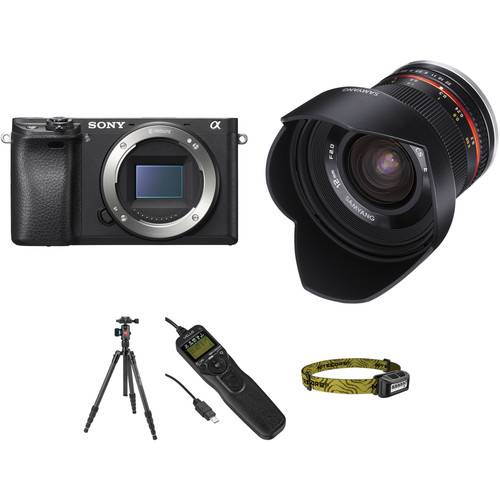 Sony Alpha a6300 Mirrorless Digital Camera with 12mm f/2 Lens Astrophotography Kit