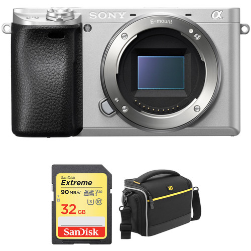 Sony Alpha a6300 Mirrorless Digital Camera Body with Accessory Kit (Silver)