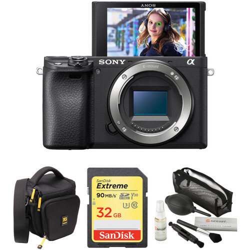 Sony Alpha a6400 Mirrorless Digital Camera Body with Accessories Kit