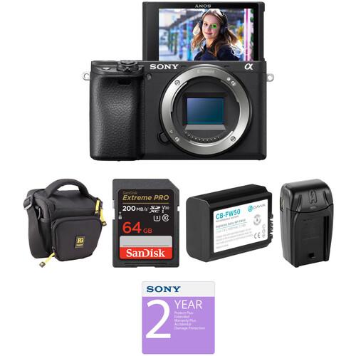 Sony Alpha a6400 Mirrorless Digital Camera Body Deluxe Kit