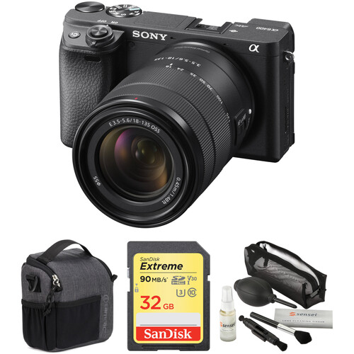 Sony Alpha a6400 Mirrorless Digital Camera with 18-135mm Lens and Accessories Kit