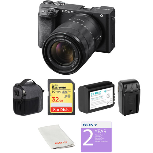 Sony Alpha a6400 Mirrorless Digital Camera with 18-135mm Lens Deluxe Kit