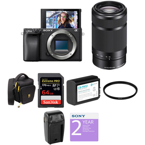 Sony Alpha a6400 Mirrorless Digital Camera with 55-210mm Lens Deluxe Kit