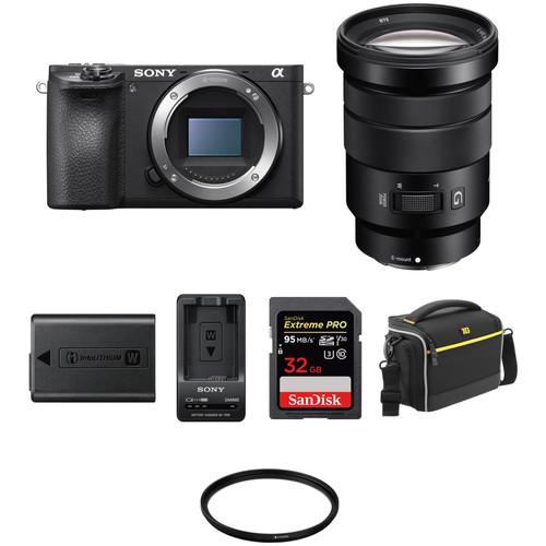 Sony Alpha a6500 Mirrorless Digital Camera with 18-105mm Lens Premium Kit