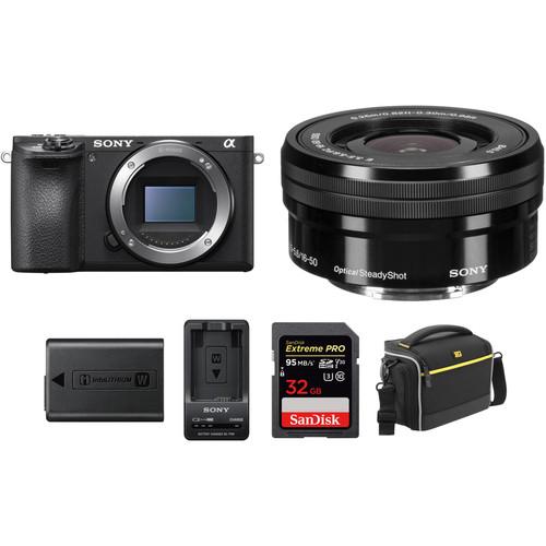 Sony Alpha a6500 Mirrorless Digital with 16-50mm Lens Premium Kit