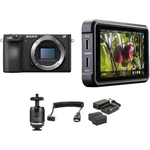 Sony Alpha a6500 Mirrorless Digital Camera Body HDR Filmmaker Kit