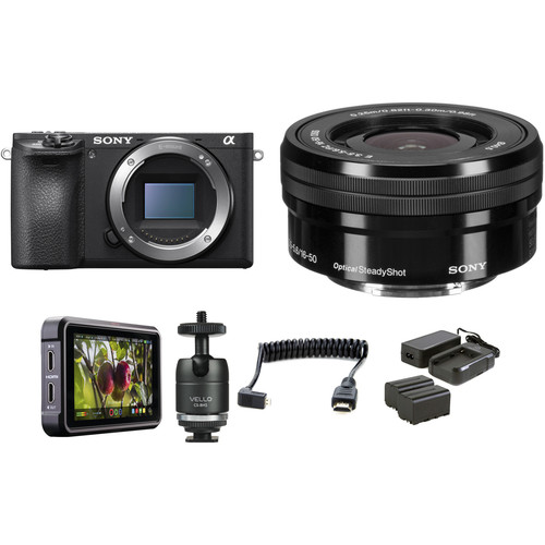 Sony Alpha a6500 Mirrorless Digital Camera with 16-50mm Lens HDR Filmmaker Kit