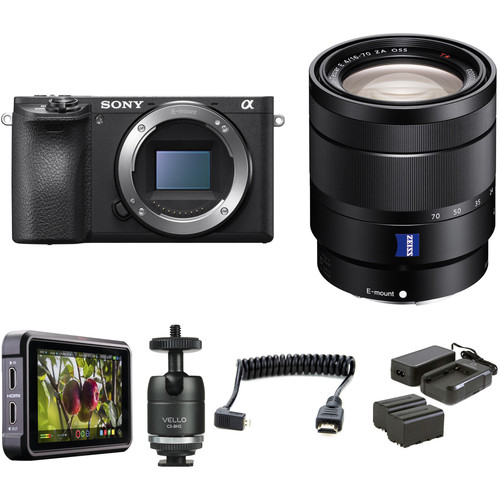 Sony Alpha a6500 Mirrorless Digital Camera with 16-70mm Lens HDR Filmmaker Kit