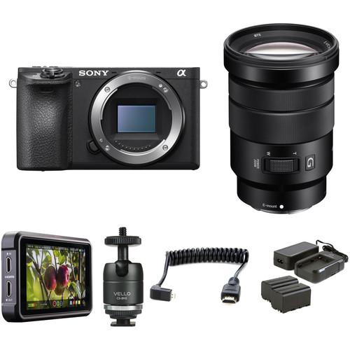 Sony Alpha a6500 Mirrorless Digital Camera with 18-105mm Lens HDR Filmmaker Kit