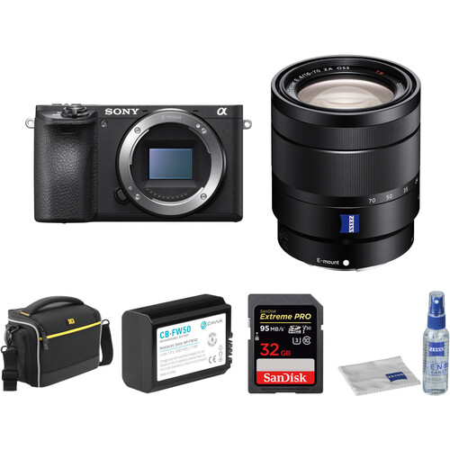 Sony Alpha a6500 Mirrorless Digital Camera with 16-70mm Lens and Free Accessory Kit