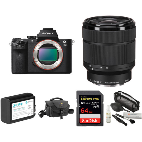 Sony Alpha a7 II Mirrorless Digital Camera with 28-70mm Lens Deluxe Kit