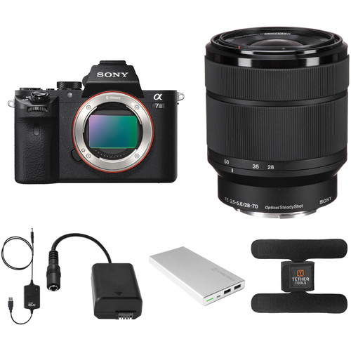 Sony Alpha a7 II Mirrorless Digital Camera with 28-70mm Lens and Tether Tools Accessories Kit