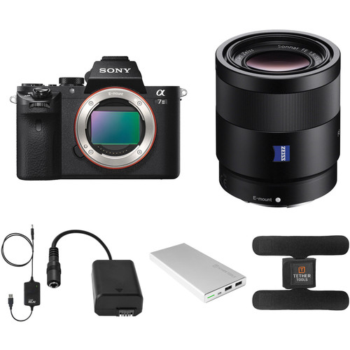 Sony Alpha a7 II Mirrorless Digital Camera with 55mm Lens and Tethered Power Kit
