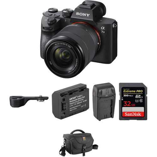 Sony Alpha a7 III Mirrorless Digital Camera with FE 28-70mm f/3.5-5.6 OSS Lens, Grip & Accessories Kit