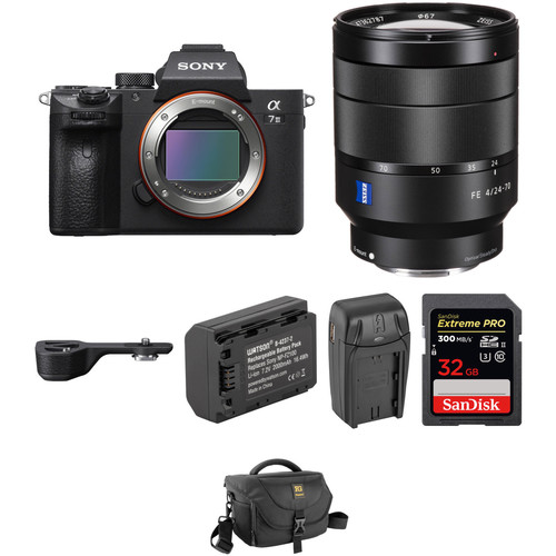 Sony Alpha a7 III Mirrorless Digital Camera with 24-70mm Lens and Grip Extension Kit