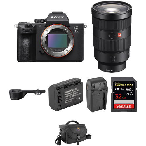 Sony Alpha a7 III Mirrorless Digital Camera with 24-70mm f/2.8 Lens, Grip Extension, and Accessories Kit