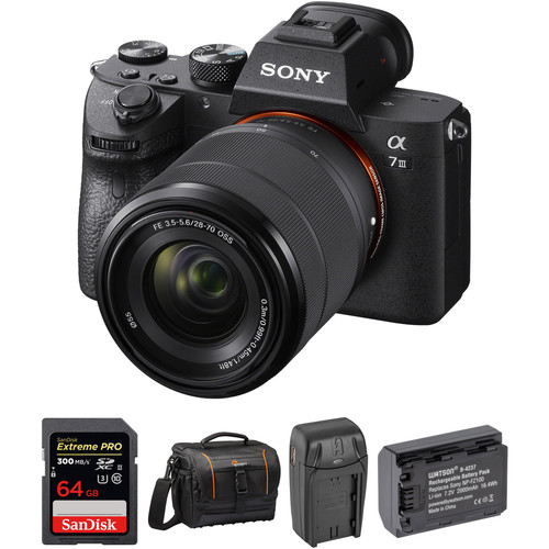 Sony Alpha a7 III Mirrorless Digital Camera with 28-70mm Lens Professional Kit