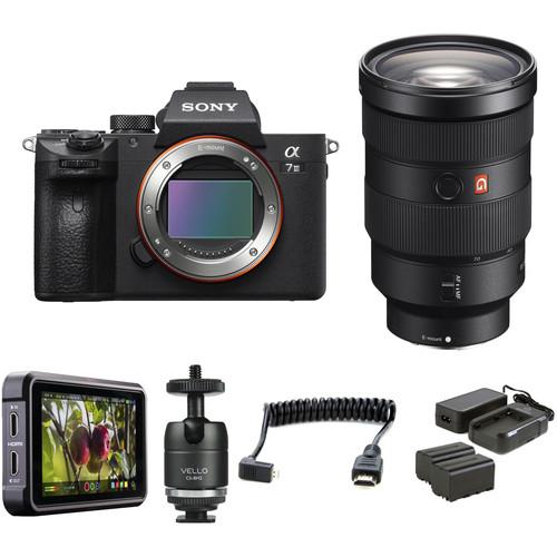 Sony Alpha a7 III Mirrorless Digital Camera with 24-70mm f/2.8 Lens HDR Filmmaker Kit