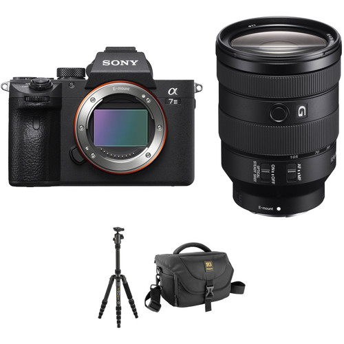 Sony Alpha a7 III Mirrorless Digital Camera with 24-105mm Lens and Tripod Kit