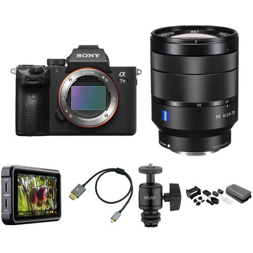 Sony Alpha a7 III Mirrorless Digital Camera with 24-70mm f/4 Lens Cine Kit