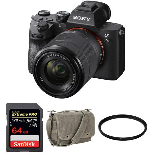 Sony Alpha a7 III Mirrorless Digital Camera with 28-70mm Lens and Accessories Kit