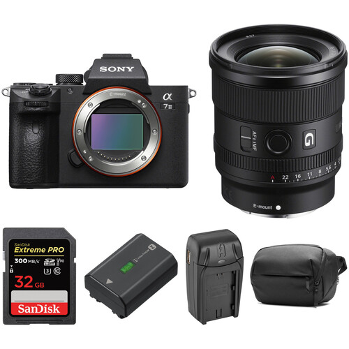 Sony Alpha a7 III Mirrorless Digital Camera with 20mm Lens and Accessories Kit