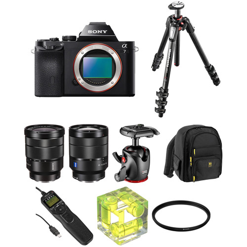 Sony Alpha a7 Mirrorless Digital Camera with 16-35mm f/4 and 24-70mm f/4 Lenses Landscape Kit