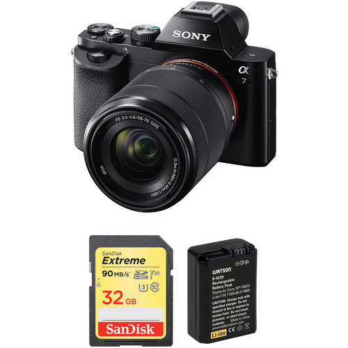 Sony Alpha a7 Mirrorless Digital Camera with 28-70mm Lens and Battery Kit